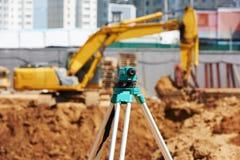Surveyor equipment theodolie outdoors Royalty Free Stock Photos