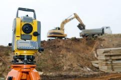 Surveyor equipment theodolite royalty free stock images