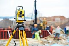 Surveyor equipment theodolite at Royalty Free Stock Images
