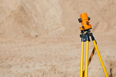 Surveyor equipment theodolite Royalty Free Stock Image