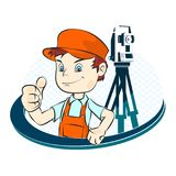 Surveyor illustration. Surveyor with a tool illustration Stock Photos