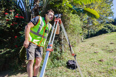 Surveyor Tripod Lens Civil Engineering Royalty Free Stock Image