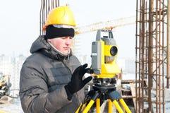 Surveyor at work Royalty Free Stock Images