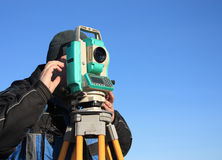 Surveyor at work Stock Images