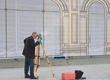 Surveyor in the work Royalty Free Stock Photos