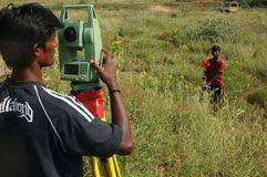 Surveyors at work Royalty Free Stock Images