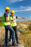 Surveyors at work stock photos