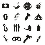 Survie Kit Icons Freehand Fill Photo stock