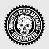 Survit à l'apocalypse de zombi/garanti Photos libres de droits