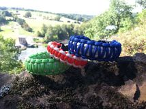 Survival Bracelets Royalty Free Stock Photos