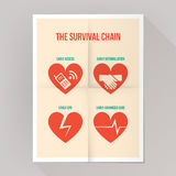The survival chain Stock Image