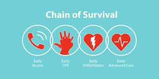 The survival chain. Vector illustration royalty free illustration