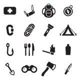 Survival Kit Icons Royalty Free Stock Photo