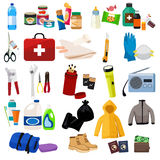Survival Kit Icons Stock Photography
