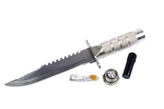 Survival Knife Stock Photo