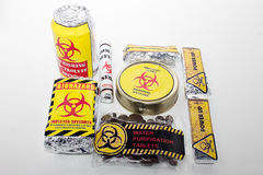 Survival pack with a biohazard symbol. Royalty Free Stock Image
