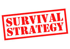 SURVIVAL STRATEGY. Red Rubber Stamp over a white background Stock Photography