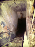Survival underground tunnel and bunker Apocalypse doomsday. Devil games built military object Stock Images