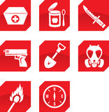 Survivalist icons Royalty Free Stock Photo