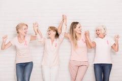 Survivants positifs de cancer Photos libres de droits