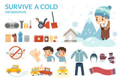 Survive a Cold. Winter cold and danger. Winter is coming. Prepare for Winter. Stock Photography