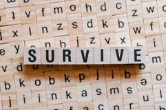 Survive word concept royalty free stock photos