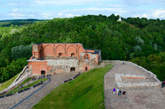 Surviving buildings of Upper Vilnius Castle and views of Mount o Royalty Free Stock Image
