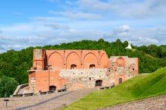 Surviving buildings of Upper Vilnius Castle, Vilnius, Lithuania Stock Photo