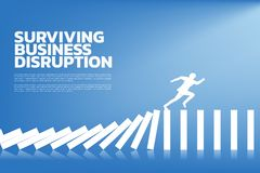 Surviving business disruption. royalty free stock image