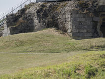 Surviving observation bunker at the Pointe du Hoc, France Royalty Free Stock Images