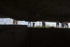Surviving observation bunker at the Pointe du Hoc, France Stock Photography