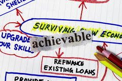 Surviving slow economy Stock Photo