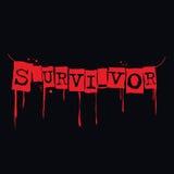 Survivor grunge print on black,  illustration Royalty Free Stock Images