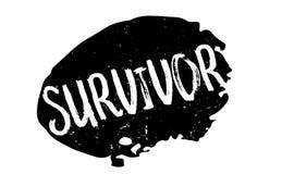 Survivor rubber stamp Royalty Free Stock Photos