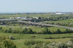 Survol A27 chez Shoreham sussex l'angleterre Image libre de droits