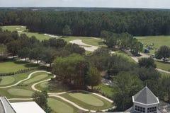 Survol 3 de terrain de golf de la Floride Photographie stock
