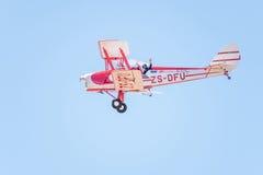 Survol de Tiger Moth Photographie stock