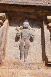 Surya, бог Солнця, ниша на основании Агры-mandapa, виска Airavatesvara, Darasuram, Tamil Nadu стоковые фото