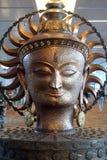Surya, the big golden statue in international Airport of Delhi Royalty Free Stock Photo