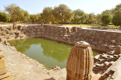 Surya kund, ναός ήλιων, Modehra Περιοχή κληρονομιάς του Gujarat Στοκ εικόνα με δικαίωμα ελεύθερης χρήσης
