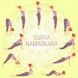 Surya namaskar Стоковое Изображение
