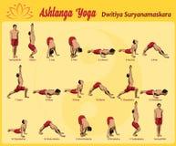 Surya Namaskar B Stock Images
