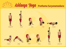 Surya Namaskar A Stock Photo
