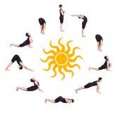 Surya namaskar sun salutation