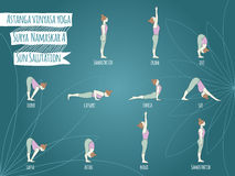 Surya namaskar A. Royalty Free Stock Images
