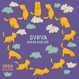 Surya namaskar Royalty Free Stock Images