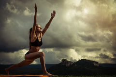 Surya Namaskara - Sun Salutation Royalty Free Stock Photos