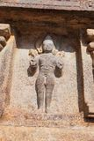 Surya, Sun God, niche at the base of agra-mandapa, Airavatesvara Temple, Darasuram, Tamil Nadu Stock Photos