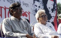 Suryakanta米什拉和Biman博斯。 免版税图库摄影