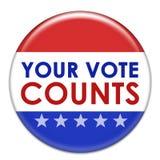 Sus cuentas del voto stock de ilustración